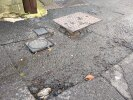 Pothole around manhole and water meters