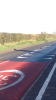 Road markings on B4017 near Chestnut Drive Drayton
